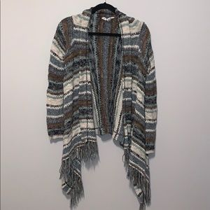 Thick Knit Fringe Cardigan
